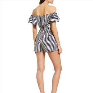 Sugar lips striped romper
